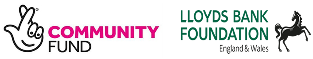 Lottery Community Fund Logo and Lloyds Bank Foundation logo