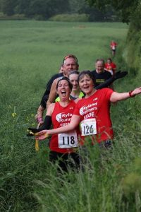 Runners Clare and Lizzie in the Bumble Bimble Race